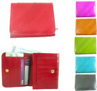 Genuine Eel Skin Leather Coin Small Women's Bifold Wallet Purse New