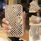 Luxury Wallet Bling Rhinestone Leather Flip Case Cover For Samsung Galaxy iPhone