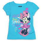 "Disney Girls Blue ""Bright Days Summer Rays"" Minnie Mouse Short Sleeve T Shirt- T"