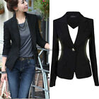 Women's One Button Slim Casual Business Blazer Suit Jacket Coat Outwear