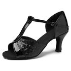 Women Girl lady's Ballroom Tango Latin Dance Shoes Dancing heeled Salsa 4 Color