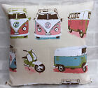 "Ashley Wilde Camper Vans Scooters Cushion Cover 14"" 16"" 17"" 18"" 20"" 22"" 24"""