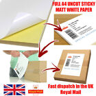 -Bulk A4 White MATT Self Adhesive / Sticky Back Label Printing Paper Sheet*