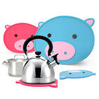 Korea Silicone Frying Pan Pot Kettle Teakettle Stand Kitchen Cooking Tool Pig