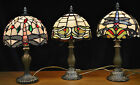 SPECIAL OFFER **PAIR **OF TIFFANY DRAGONFLY STAINED GLASS TABLE LAMPS