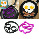 Silicone Funny Owl Skull Egg Fried Frying Mould Breakfast Pancake Mold Ring