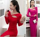 2015 Hot sale night club women Long sleeve Cocktail Party Evening Bodycon Dress