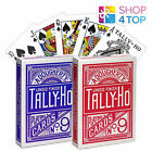 BICYCLE TALLY HO CIRCLE PLAYING CARDS DECK STANDARD INDEX LINOID FINISH BLUE RED