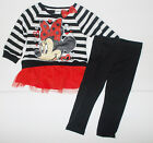 Disney Minnie Mouse Toddler Girls 2 Piece Long Sleeve Outfit Size 3T NWT