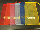 SANSHA Small Mesh Bag, for Pointe and Dance shoes 11 colours locking pull cord