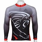 2015 abstract lion sport Cycling Clothing Long Sleeve Bike Bicycle Jersey Top