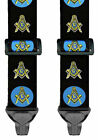 MASONIC SUSPENDERS for AIRPORT TRAVEL - NON METAL -  2 SIZES - MADE IN THE USA