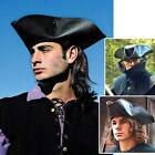 Captain Jack Sparrow Leather Pirate Tricorn Hat. For Re-enactment Stage & LARP