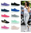 LADIES WOMENS TRAINERS GYM JOGGING RUNNING SPORTS AEROBIC PUMPS SHOES SIZE