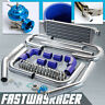 Universal Blue 2.5'' Aluminum FMIC Intercooler Piping Kit + Bov Intercooler Kit
