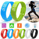 UK 3D Smart Wrist Watch Bracelet Pedometer Walking Calorie Counter Sport Tracker