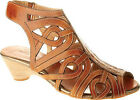 SPRING STEP L'Artiste Womens Flourish Dress Sandals Natural Leather FLOURISH-NAT
