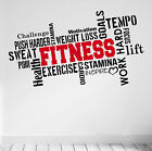 PRO FITNESS Motivational Wall Decal Gym Quote Sticker Workout Exercise Diet DIY