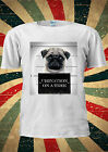 Criminal Guilty Pug Dog Urination On A Tr T-shirt Vest Top Men Women Unisex 1982
