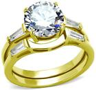 NEW Size J L N 5 6 7 Engagement Ring WEDDING Band Ring SET Ion yellow LTK44701E