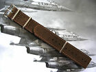 NATO G10 ® Bomber Leather Aviator Pilot watch band Military strap UTC IW SUISSE