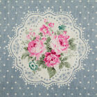 By the 1/2yard or 1yard 100% Cotton-Linen Floral Dot Fabric Sewing Craft f-232