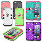 iPod Touch 5th 6th Gen Cute Colorful Rhinestones Diamond Hard Case Bling Cover