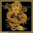 Paint by Numbers kit 60x60cm (24x24'') Golden Dragon DIY Painting JC9001