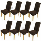 8Pcs Super Fit Stretch Short Chair Covers Dining Room Protector Removable Cover