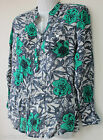 WHITE STUFF FLORAL COLLARLESS TUNIC TOP BLOUSE SHIRT SIZE  10 12 14
