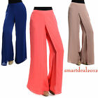 Women palazzo pants wide leg Chic Layer casual yoga party
