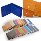 Genuine EEL Skin Leather Men Women Bifold SLIM Wallet Purse with Coin Pocket