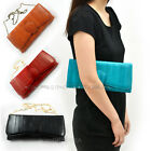 EEL Skin Leather Handbag Clutch Women Ladies Evening Single Shoulder Bag Party