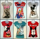 PRIMARK LICENSED / DISNEY T SHIRT TOP TEE UK 6 - 18 NEW