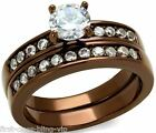 Size 8 9 10 Solitaire Wedding Engagement Ring Chocolate Steel P R T LTK8X003LCE