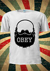 Obey The Beard Funny Moustache T-shirt Vest Top Men Women Unisex 2032