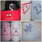 PERSONALISED DOG/PUPPY EMBROIDERED BLANKET NAME ADDED BED CRATE CAR NEW GIFT