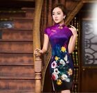 new Chinese women's velvet embroidery evening mini Dress/Cheongsam 6.8.10.12.14
