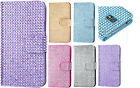 FOR SAMSUNG GALAXY S5 Diamond Bling Wallet Case with Card Slot Phone Cover Pouch