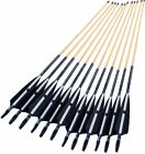 "12x 31"" Striped turkey feather target archery Decorative Wooden Arrow F Bald bow"