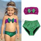 2015 Mermaid Kids Baby Girl Princess Sequins Summer Swimsuit Swimwear Bikini
