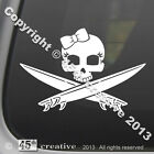 Girls Surfing Skull Decal Sticker - girl surfboard wax girl surfer skull logo
