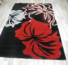 FLORAL CHINESE HAND CARVED ACRYLIC  RUGS FREE P&P  RUNNER QUALITY BROWN SALE