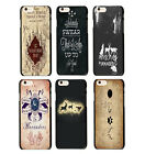 Harry Potter The Marauders Map Hogwarts Pattern Case Cover For iphone 5 5S