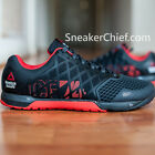 REEBOK R CROSSFIT NANO 4.0 MENS TRAINING SHOES BLACK CHINA RED GRAVEL M43438