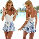 Sexy Women Lace Playsuit Party Summer Ladies Dress Jumpsuit Short Romper White