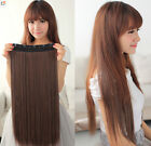 Full Head One Piece Clip In Remy Human Hair Extensions & Hair pieces Thick Set