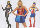 Women's Superhero Costumes sizes 8-10, 12-14, 16-18.
