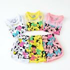 Minnie Mouse Shirt & Shorts Set Outfit Costume Baby Girls Kids Princess, Mickey