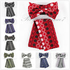 BT619 Colors Polka Dots Pre-tied Bowtie And Pocket Square Hanky Wedding Prom